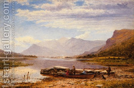Derwentwater From Ladore: Morning, With Skiddaw In The Distance by Benjamin Williams Leader - Reproduction Oil Painting