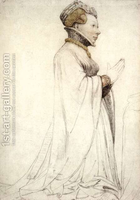 Jeanne de Boulogne, Duchess of Berry by Hans, the Younger Holbein - Reproduction Oil Painting
