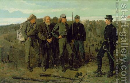 Prisoners from the Front by Winslow Homer - Reproduction Oil Painting