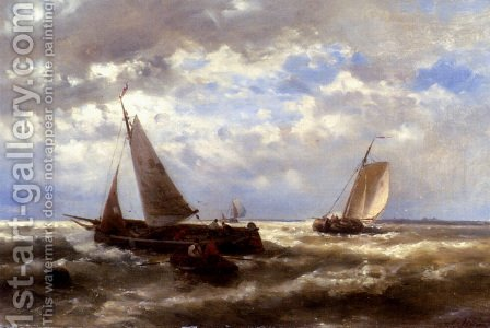 A Windy Day by Abraham Hulk Snr - Reproduction Oil Painting
