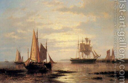 Twilight Sails by Abraham Hulk Snr - Reproduction Oil Painting