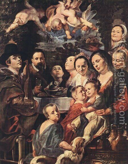 Self Portrait among Parents, Brothers and Sisters by Jacob Jordaens - Reproduction Oil Painting