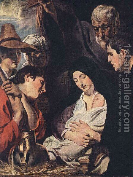 Adoration of the Shepherds by Jacob Jordaens - Reproduction Oil Painting