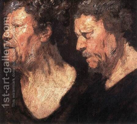 Studies of the Head of Abraham Grapheus by Jacob Jordaens - Reproduction Oil Painting