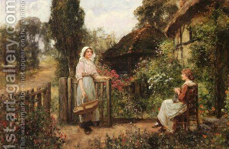 Friendly Neighbors by Henry John Yeend King - Reproduction Oil Painting