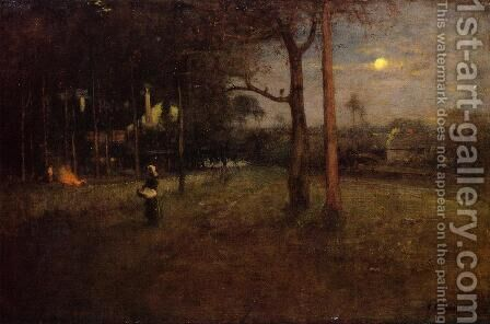 Moonlight, Tarpon Springs, Florida by George Inness - Reproduction Oil Painting