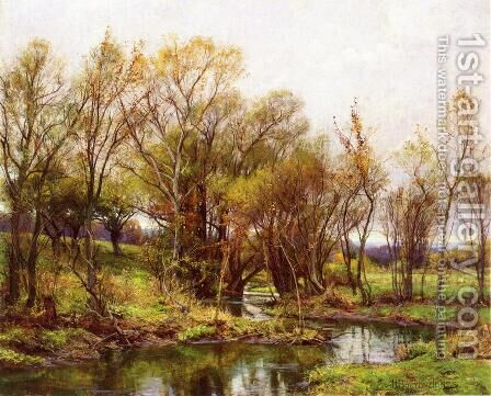 The Brook - Morning by Hugh Bolton Jones - Reproduction Oil Painting
