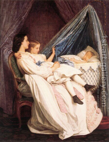 The New Arrival by Auguste Toulmouche - Reproduction Oil Painting