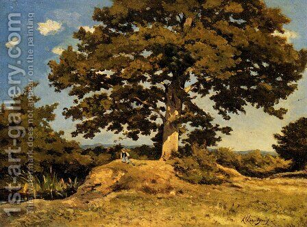 The Big Tree by Henri-Joseph Harpignies - Reproduction Oil Painting