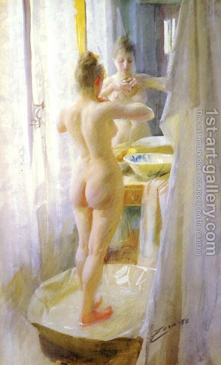 Le Tub (The tub) by Anders Zorn - Reproduction Oil Painting
