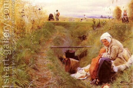 Vart Dagliga Brod (Our daily bread) by Anders Zorn - Reproduction Oil Painting