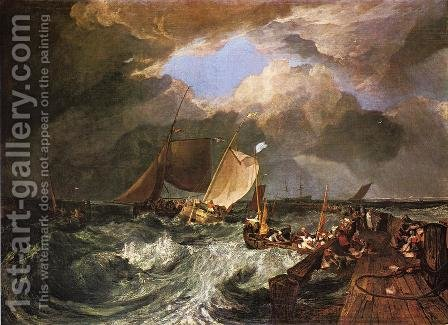 Calais Pier, with French Poissards Preparing for Sea: an English Packeet Arriving by Turner - Reproduction Oil Painting