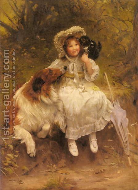 He Won't Hurt You by Arthur John Elsley - Reproduction Oil Painting