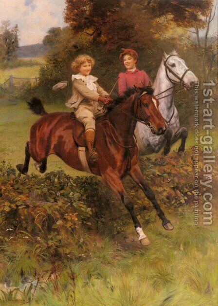 His First Fence by Arthur John Elsley - Reproduction Oil Painting