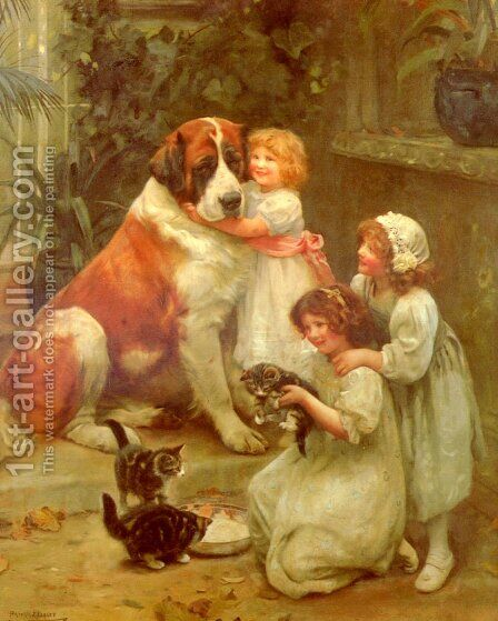 Family Favourites by Arthur John Elsley - Reproduction Oil Painting
