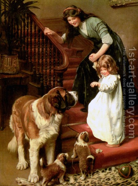 Good-Night by Arthur John Elsley - Reproduction Oil Painting