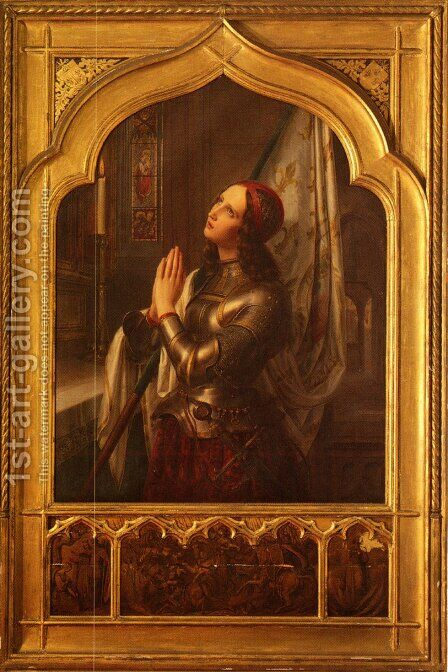 Joan of Arc In Prayer by Hermann Anton Stilke - Reproduction Oil Painting
