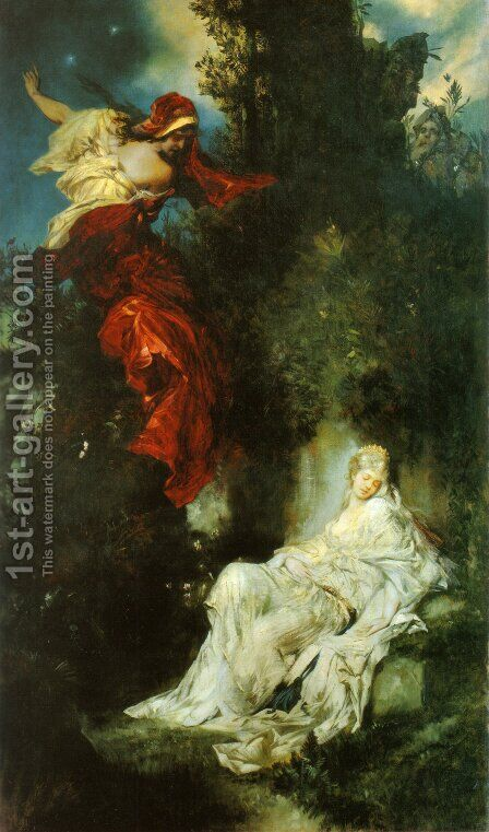Das schlafende Schneewittchen (Snow White Sleeping) by Hans Makart - Reproduction Oil Painting