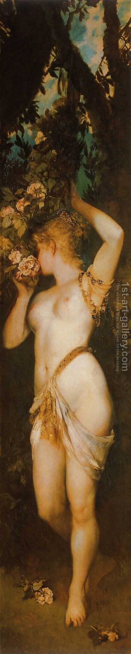 Die Fünf Sinne: Geruch (The Five Senses: Smelling) by Hans Makart - Reproduction Oil Painting