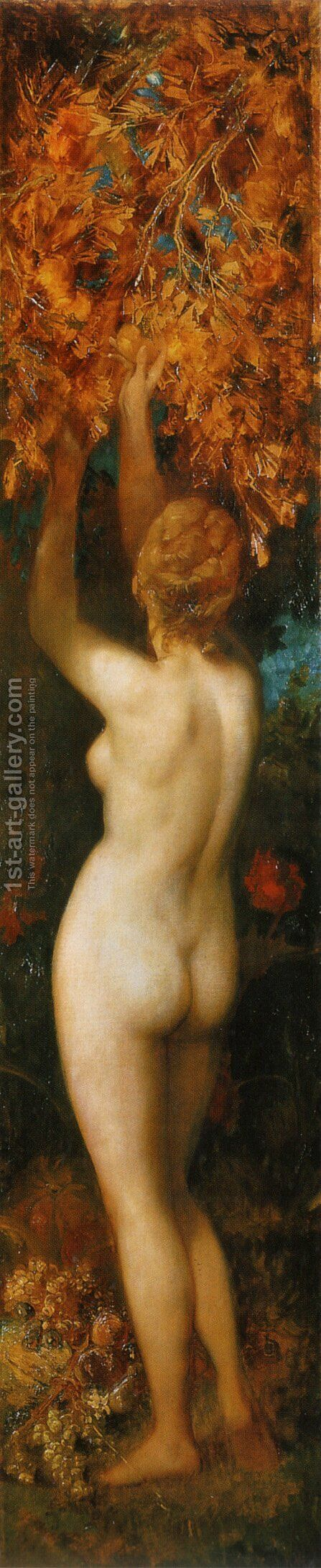 Die Fünf Sinne: Geschmack (The Five Senses: Tasting) by Hans Makart - Reproduction Oil Painting