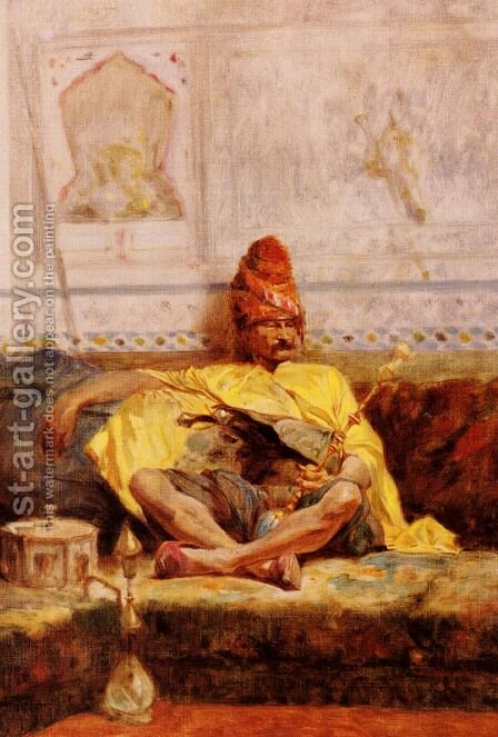 Bashi-Bazouk Assis (Seated Bashi-Bazouk) by Charles Bargue - Reproduction Oil Painting