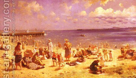 Scene De Plage (Scene at the Seaside) by Horace van Truith - Reproduction Oil Painting