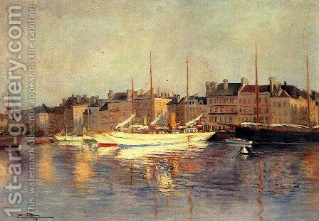 St. Tropez by Edmond Marie Petitjean - Reproduction Oil Painting