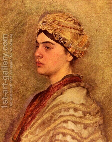 A Jewish Bride by Isidor Kaufmann - Reproduction Oil Painting