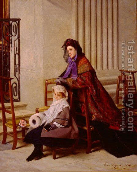Sunday Morning by Gustave Leonhard de Jonghe - Reproduction Oil Painting