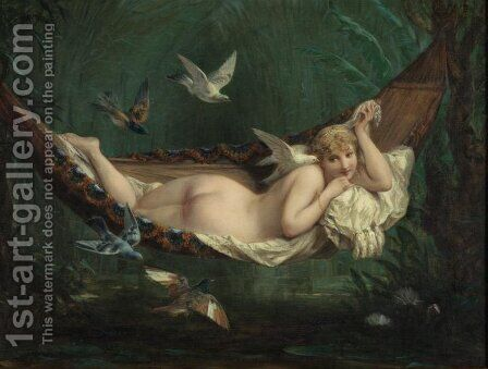 The Hammock by Henri Pierre Picou - Reproduction Oil Painting