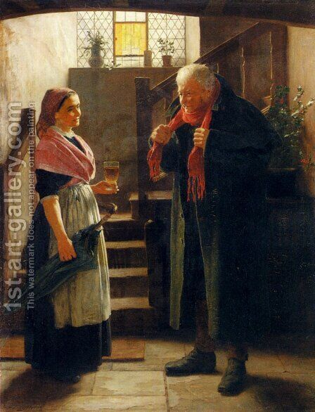 Keeping Out Of The Cold by James Hayllar - Reproduction Oil Painting