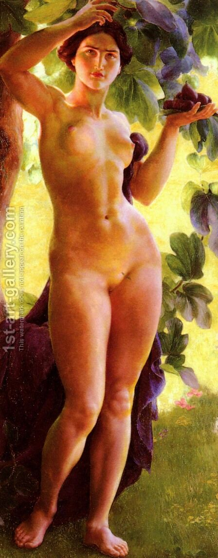 Baigneuse Aux Figues (Bather with Figs) by Charles Lucien Moulin - Reproduction Oil Painting