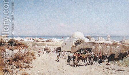 In the Desert by Alfred Wordsworth Thompson - Reproduction Oil Painting