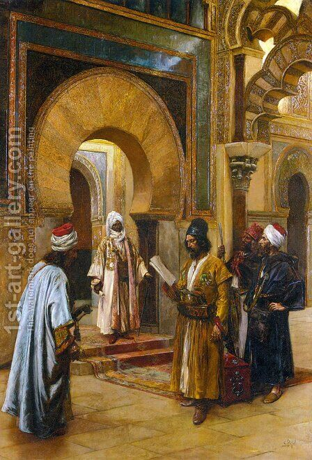 Emmisaries to the Sultan by Clément Pujol de Guastavino - Reproduction Oil Painting