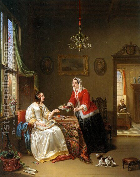 An Elegant Company by Alexis van Hamme - Reproduction Oil Painting