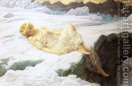 Heart of Snow by Edward Hughes - Reproduction Oil Painting
