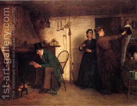 The New Bonnet by Eastman Johnson - Reproduction Oil Painting