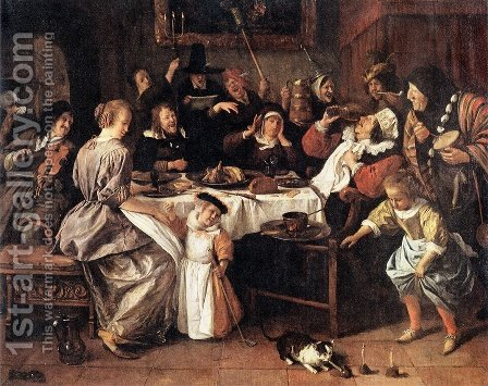 Twelfth Night by Jan Steen - Reproduction Oil Painting