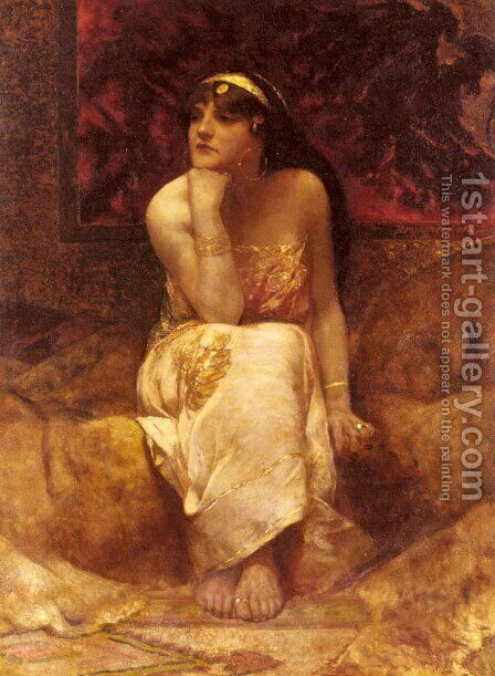 Queen Herodiade by Benjamin Jean Joseph Constant - Reproduction Oil Painting