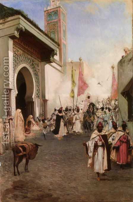 Entrance of Mohammed II into Constantinople by Benjamin Jean Joseph Constant - Reproduction Oil Painting