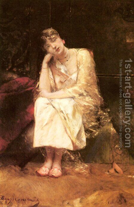 Contemplation by Benjamin Jean Joseph Constant - Reproduction Oil Painting