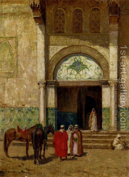 A Rest Outside A Mosque by Addison Thomas Millar - Reproduction Oil Painting