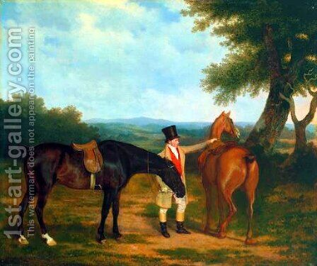 Two Hunters with a Groom by Jacques Laurent Agasse - Reproduction Oil Painting
