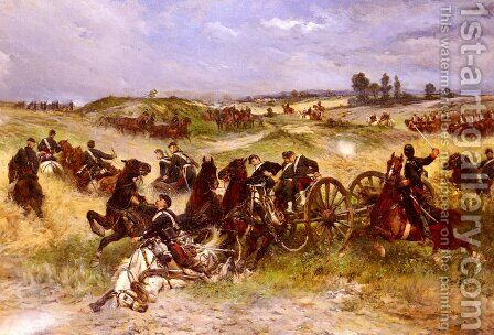 The Fray Of Battle (or The Franco-Prussian War) by James Alexander Walker - Reproduction Oil Painting