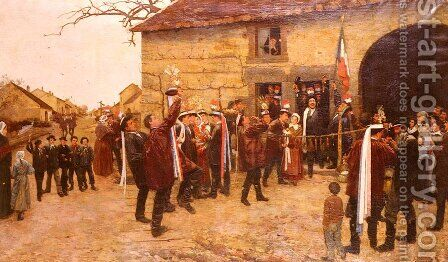 Les Conscrits (Conscripts) by Alfred Pierre Joseph Jeanmougin - Reproduction Oil Painting