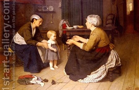 The First Step by David Adolf Constant Artz - Reproduction Oil Painting