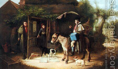 The Rival by Charles Hunt - Reproduction Oil Painting