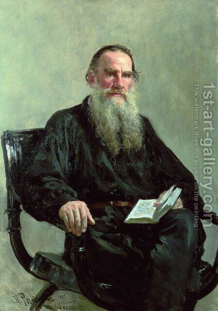 Portrait of Lev Tolstoy by Ilya Efimovich Efimovich Repin - Reproduction Oil Painting