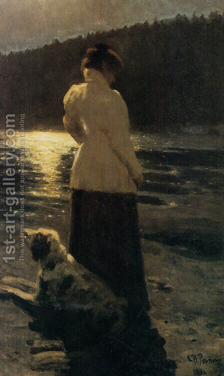 Moonlight by Ilya Efimovich Efimovich Repin - Reproduction Oil Painting