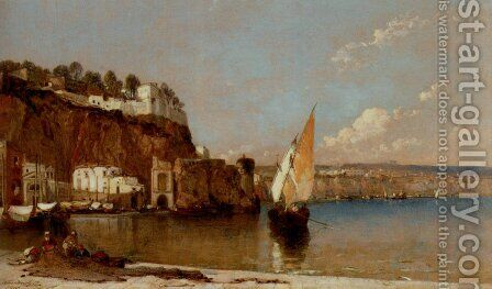 Sorrento, Bay of Naples by Arthur Joseph Meadows - Reproduction Oil Painting